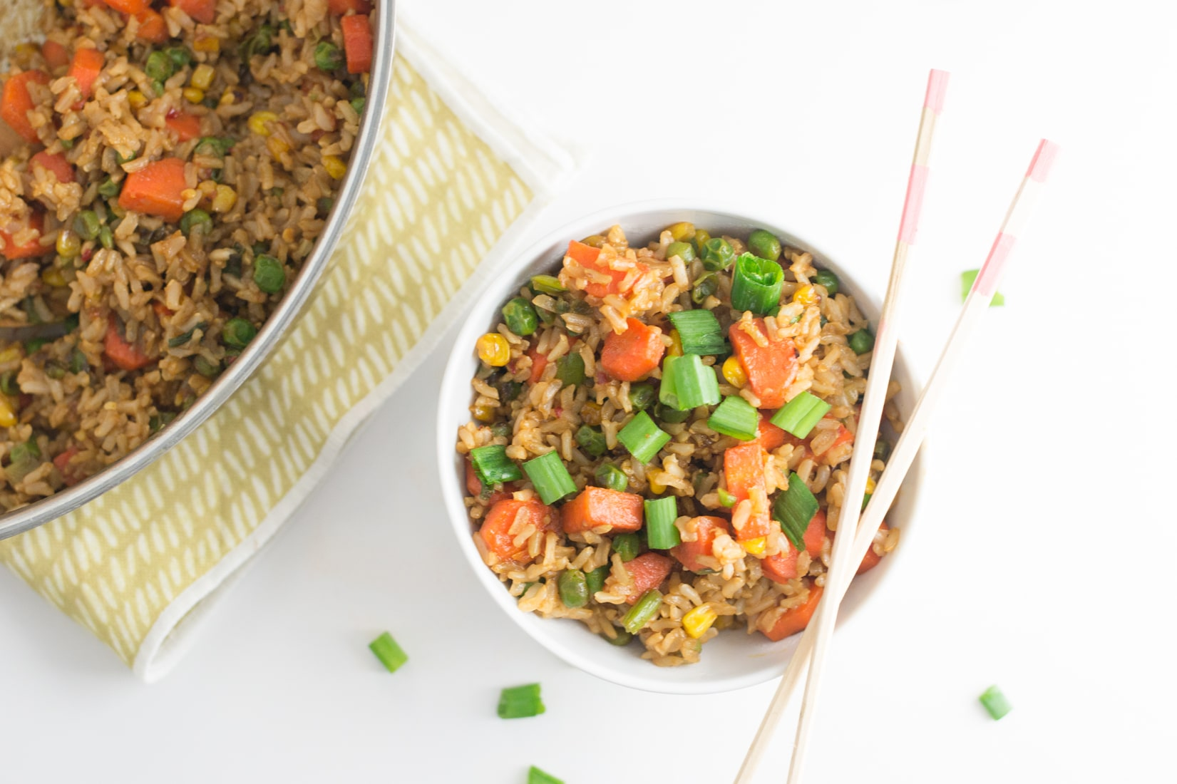 Quick and Healthy Vegan Fried Rice -- It only takes a few ingredients to create this easy plant based meal that's perfect for weeknights. - mindfulavocado