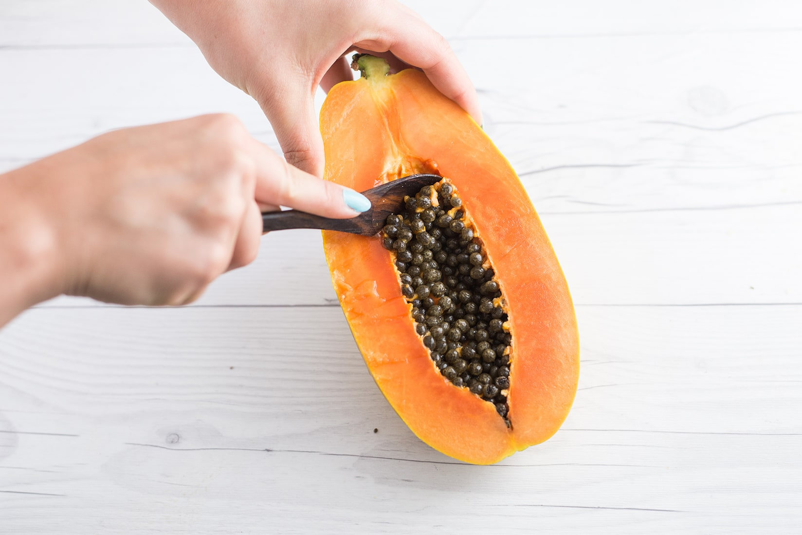 Papaya Boats with Chia Pudding -- Try this easy breakfast recipe for a healthy plant based meal! - mindfulavocado
