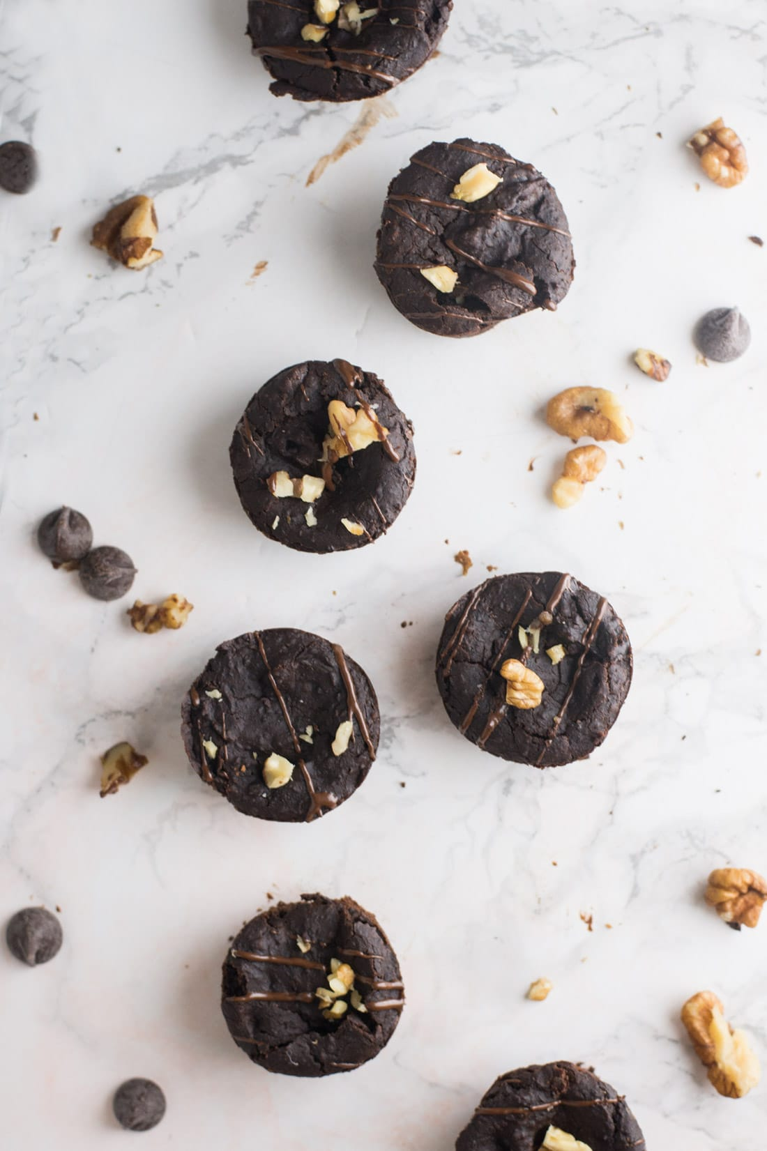 Black Bean Brownies -- A healthy spin on the chocolatey dessert for a vegan treat. Not only are these little bites super fudgy, they are gluten free and refined sugar free as well! | mindfulavocado