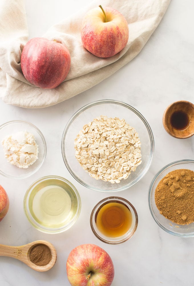 ingredients for vegan baked apples