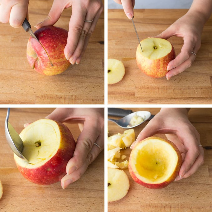 how to hollow out an apple