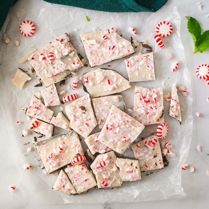 Easy Vegan Peppermint Bark + VIDEO!