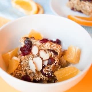 Cranberry Orange Quinoa Breakfast Bake