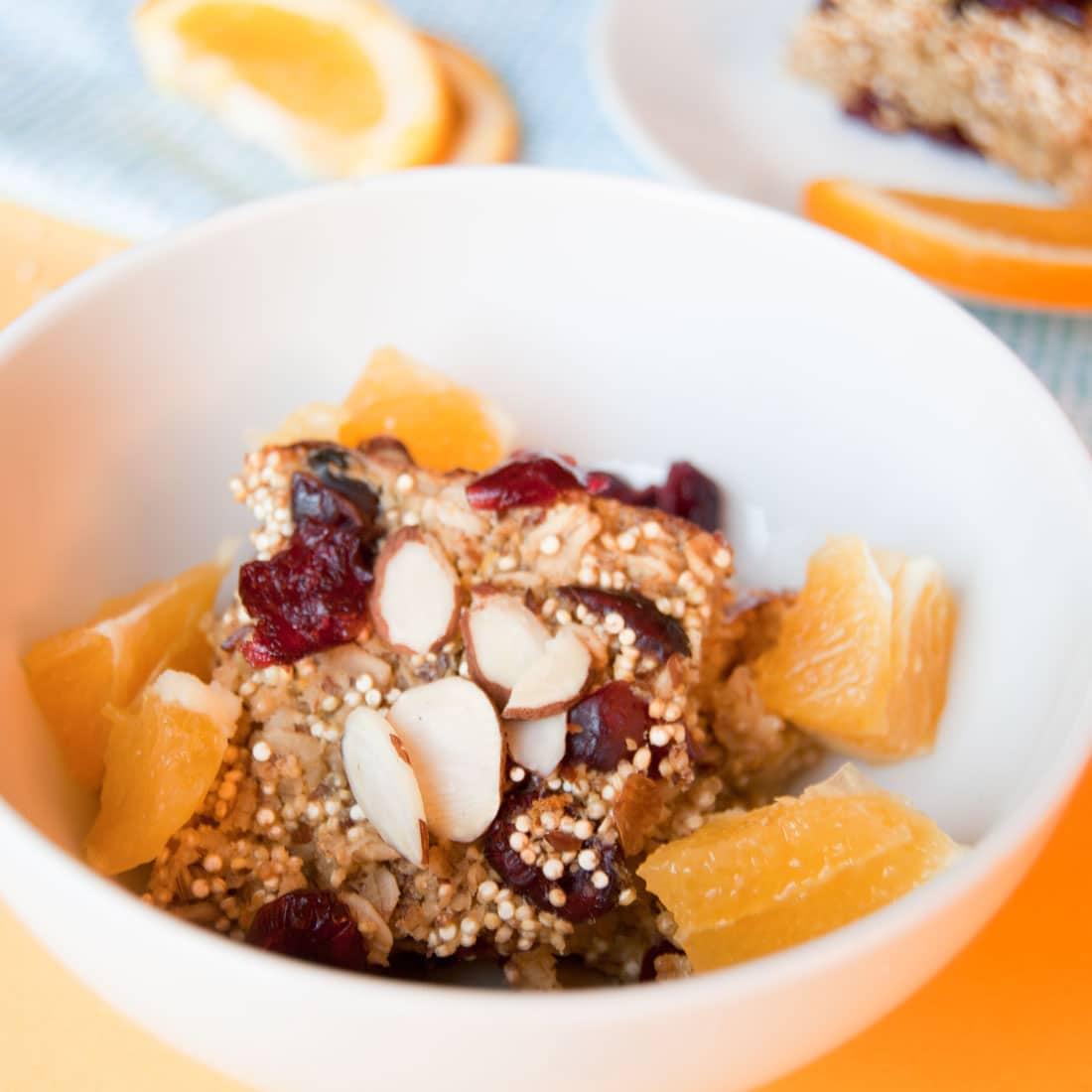 Cranberry Orange Quinoa Breakfast Bake