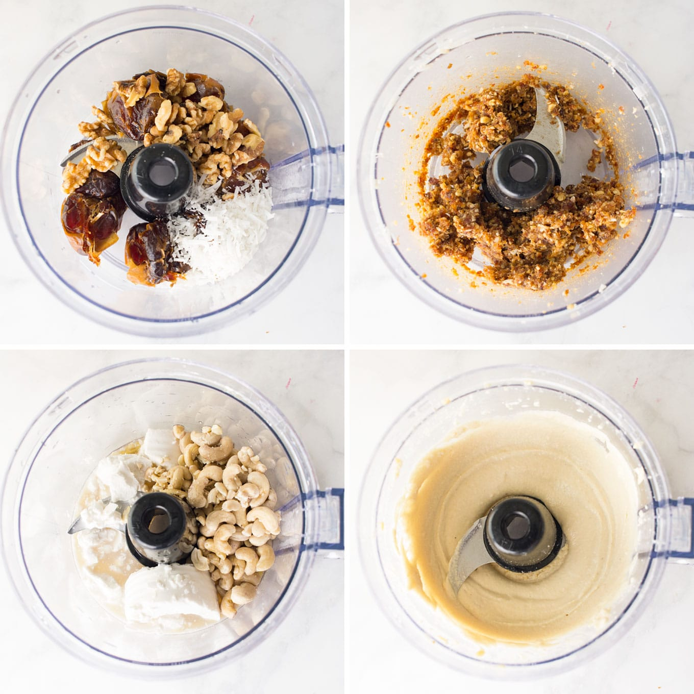 how to make raw mini vegan cheesecakes with food processor