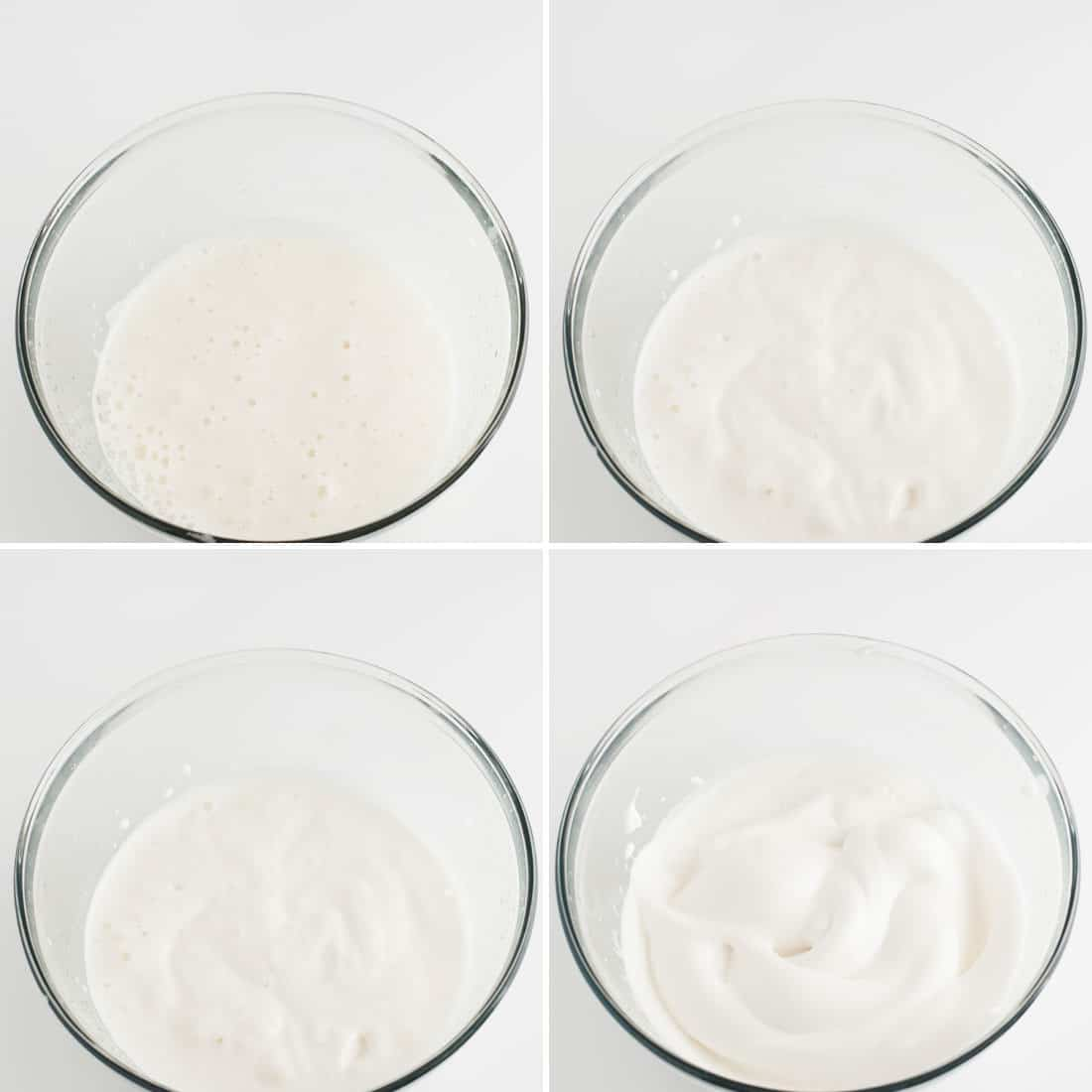 steps showing process of how to make aquafaba