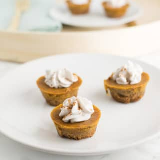 Chai Spiced Mini Pumpkin Pies