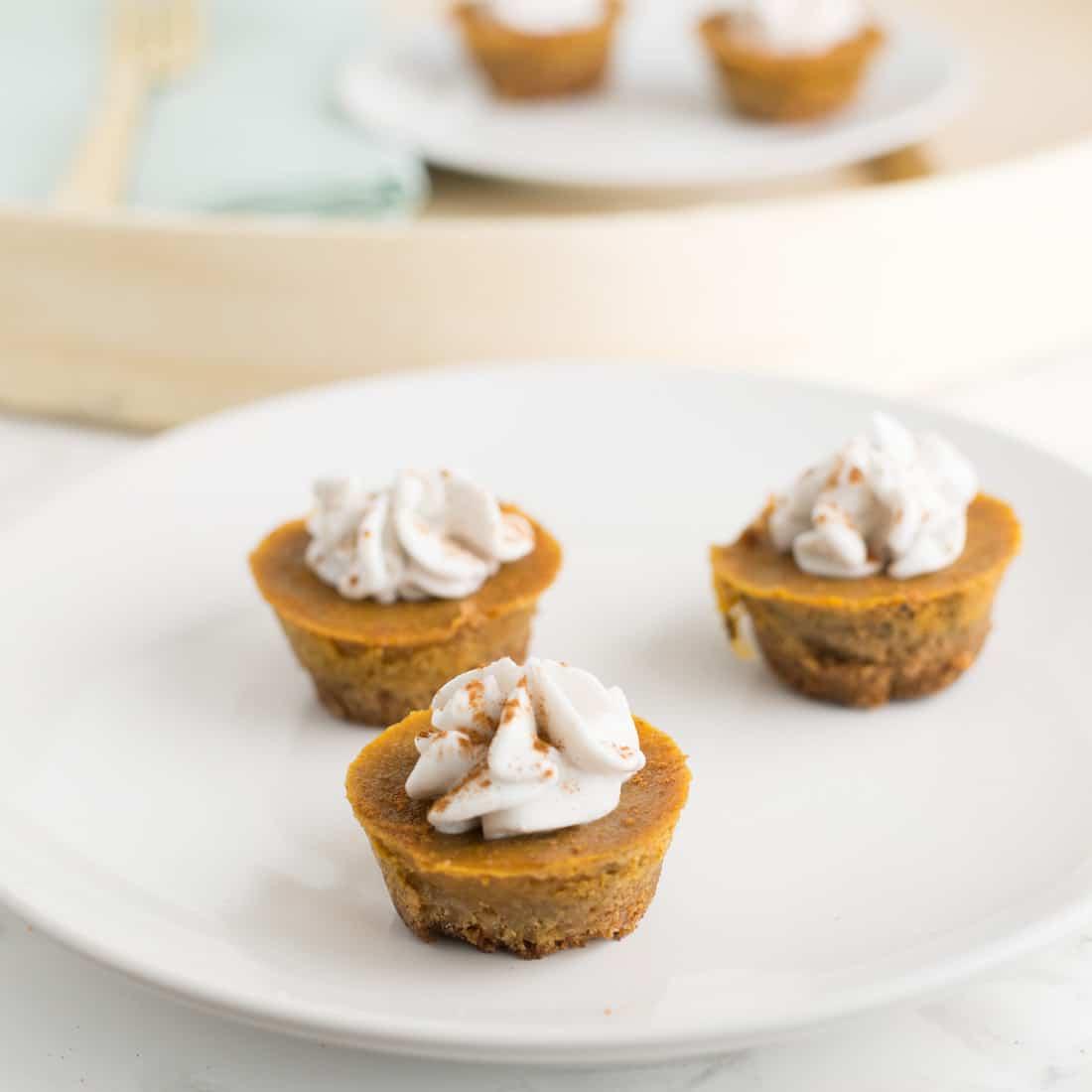 Chai Spiced Mini Pumpkin Pies