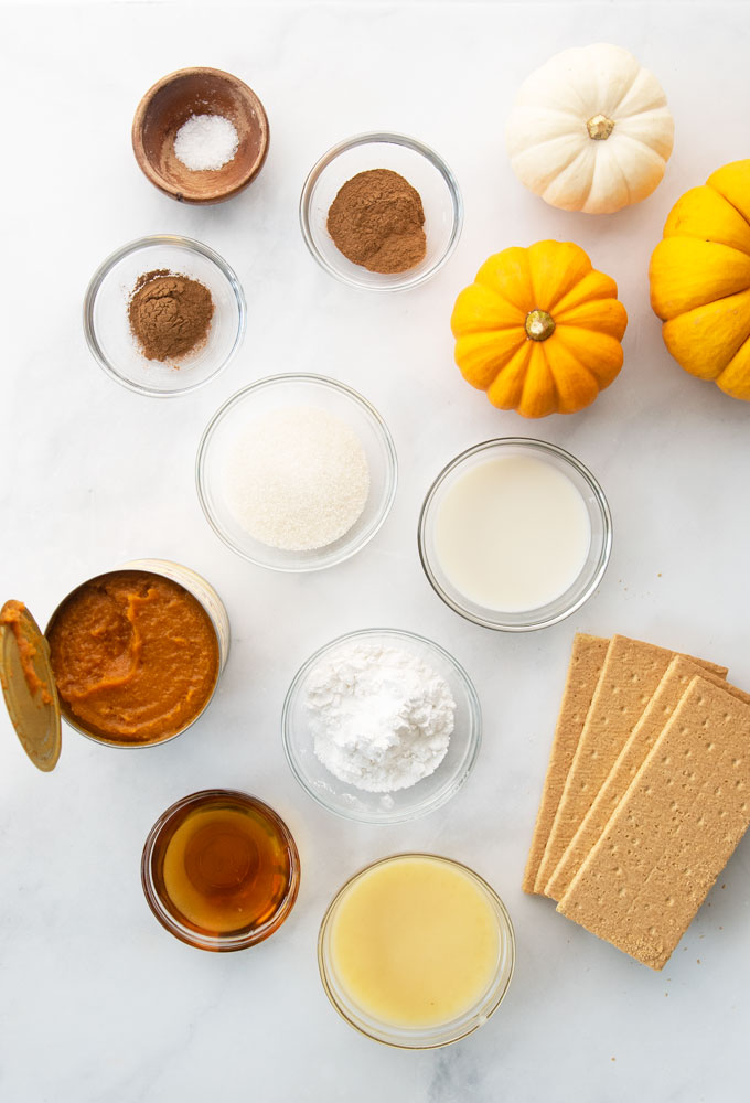 ingredients for mini pumpkin pies