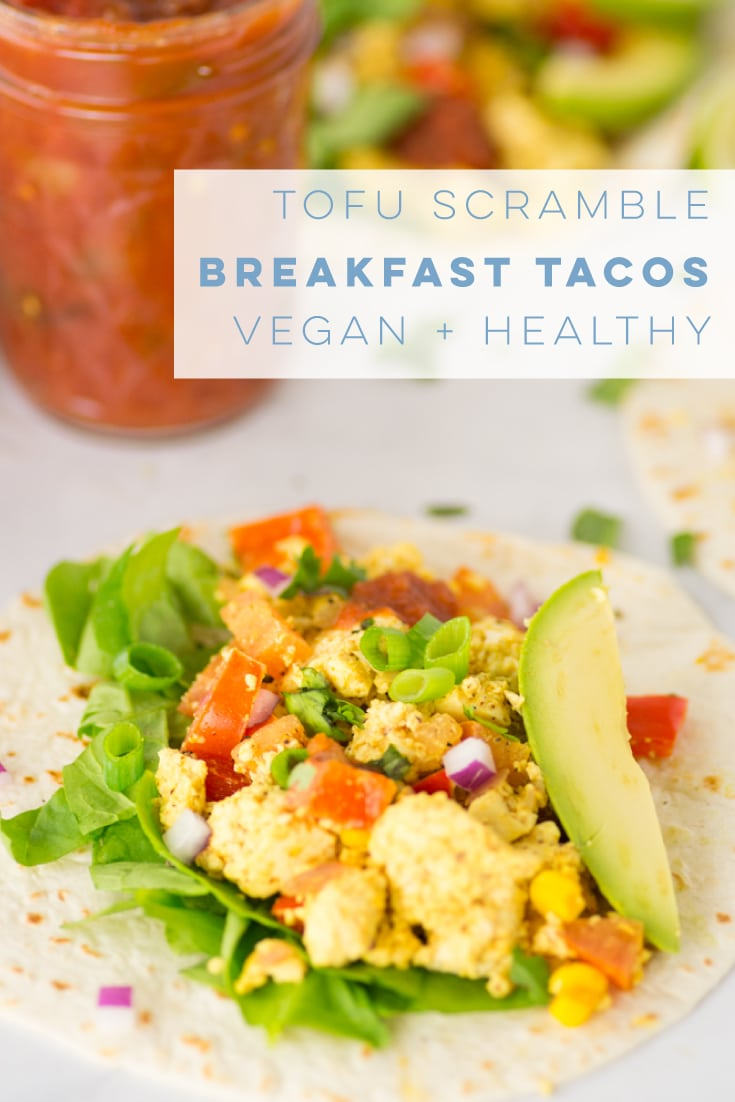 Learn how to make a Southwestern style tofu scramble. Wrap in a tortilla and pile high with avocado, salsa, and cilantro for some killer tacos! #vegan #vegetarian #glutenfree #tacos #healthy #cleaneating #veganbreakfast #tofuscramble | mindfulavocado
