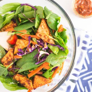 Thai Salad with Red Curry Tofu