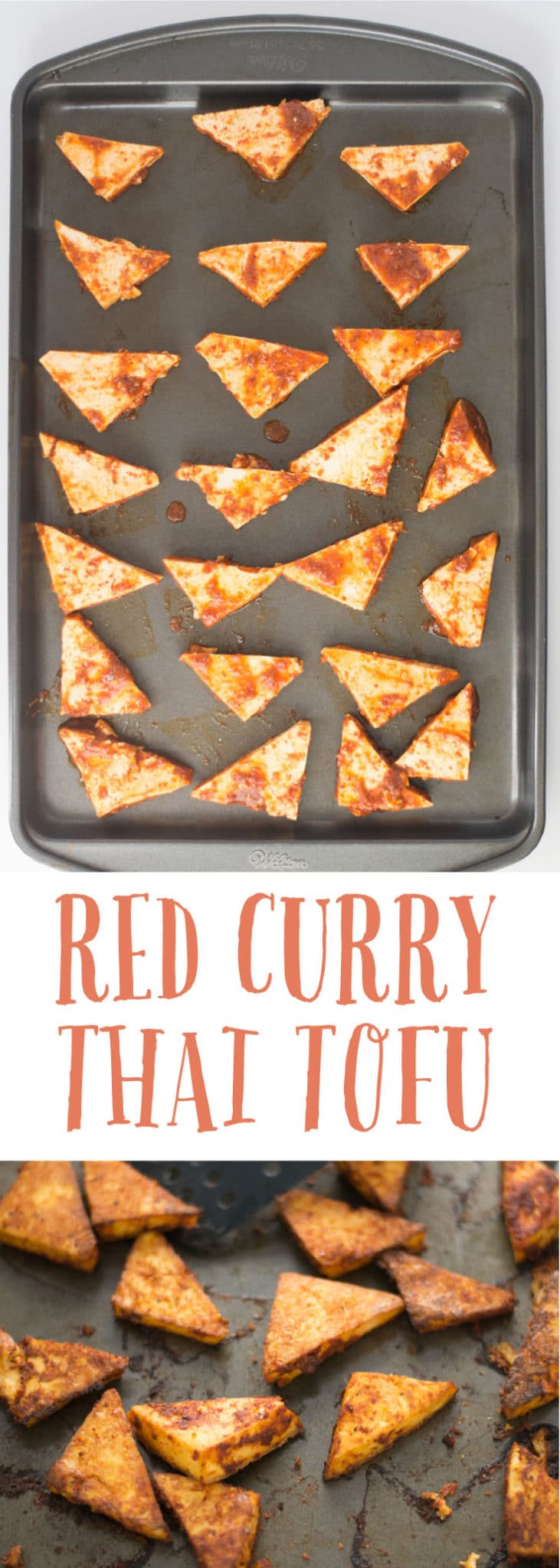 Thai Tofu Curry -- This Thai-inspired tofu has the perfect amount of flavor spice and is baked to crispy perfection. Only requires six ingredients to make this versatile tofu recipe. Top off a big bowl of salad or hearty grains such as quinoa or rice and you have yourself a filling vegan meal! #vegan #vegetarian #plantbased #glutenfree #cleaneating #healthy  | mindfulavocado