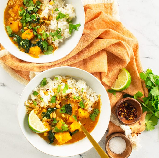 Slow Cooker Butternut Squash Curry {Vegan}