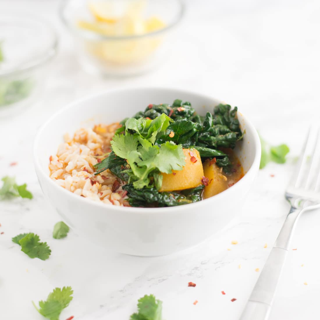 Crockpot Butternut Squash Thai Curry (Vegan)