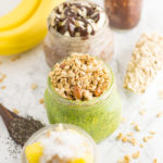 mason jars with vegan overnight oats
