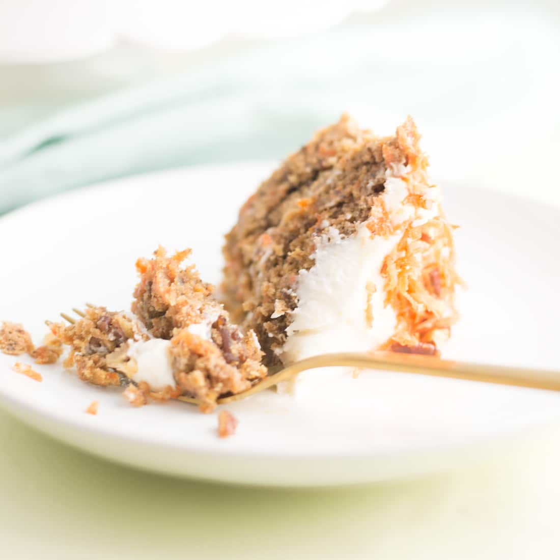 Vegan Carrot Cake -- This vegan version of the classic cake flavor is the prefect plant based dessert - mindfulavocado
