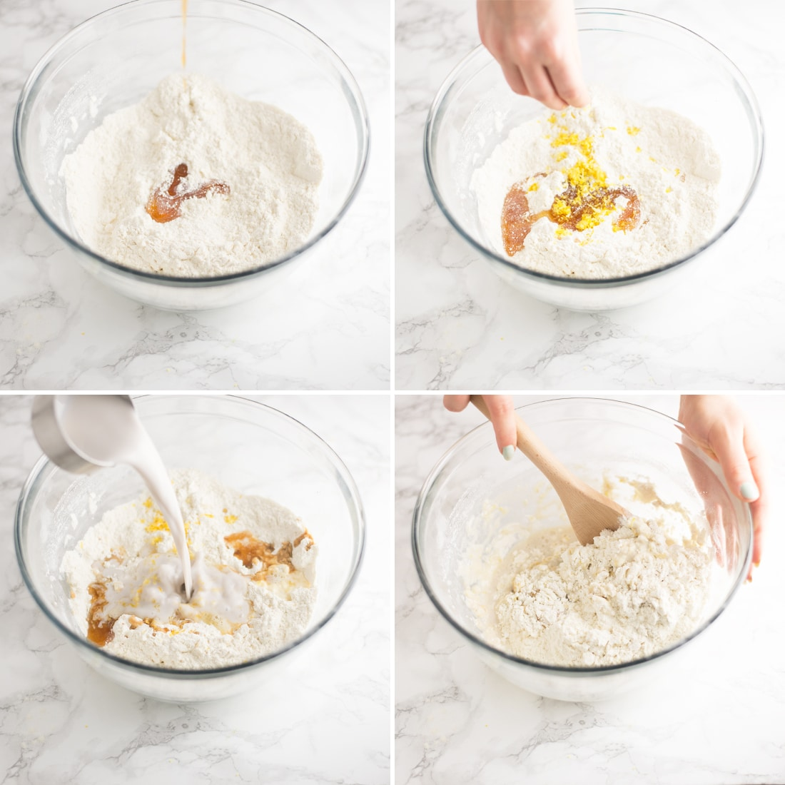 step by step photos making scones