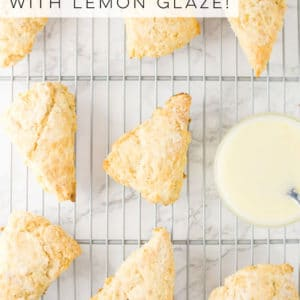 This vegan lemon scones recipe is so easy to make and tastes DELICIOUS. Paired with a lemon glaze, you can be brunch ready with these baked goods! #lemonscone #brunchrecipe #mothersdayrecipe #easterrecipe #lemondessert - mindfulavocado