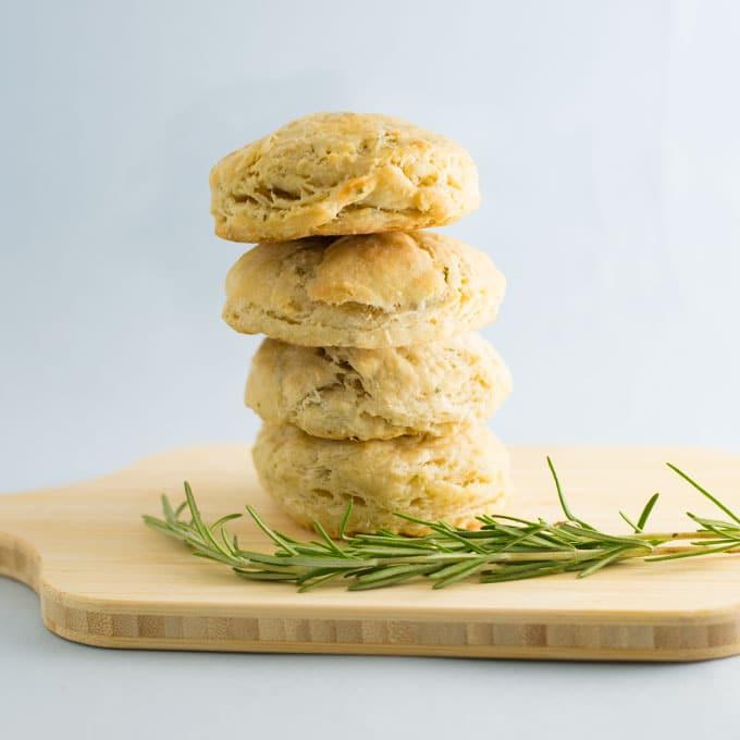 Vegan Rosemary Biscuits