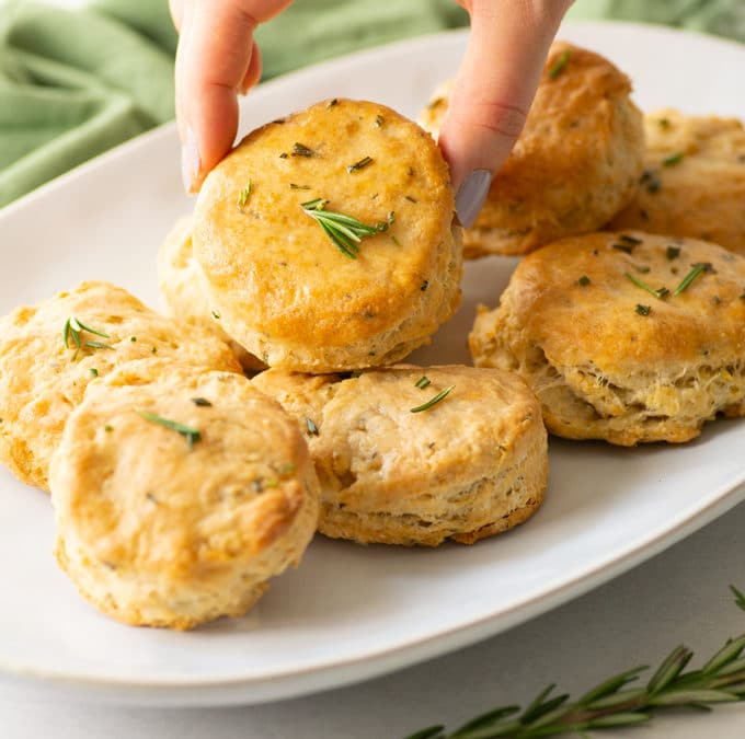 Super Flakey Rosemary Biscuits {Vegan!}