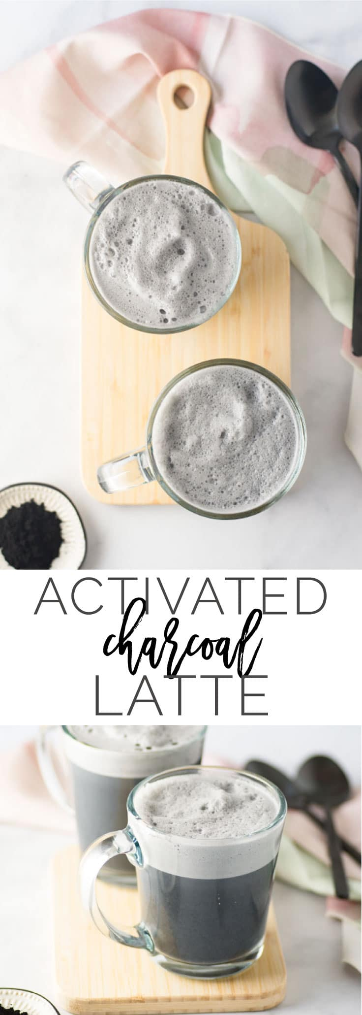 Activated Charcoal Latte -- Let your inner-goth squeal with this black charcoal latte! It's all you need to detox and feel great. Activated charcoal has amazing benefits for the inside and out and when paired with almond milk, makes a delicious and healthy beverage! #vegan #detox #healthy #charcoal #cleaneating #latte - mindfulavocado