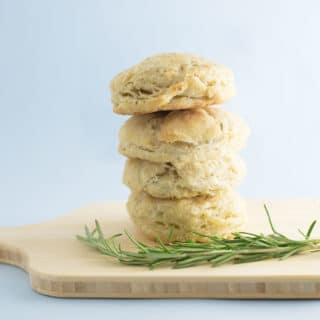Vegan Rosemary Biscuits