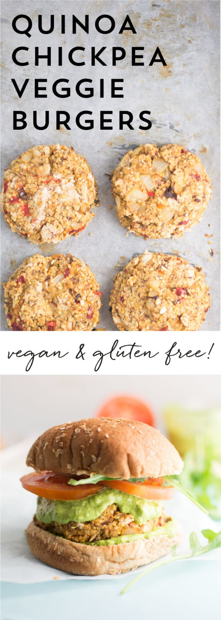 Italian White Bean Quinoa Veggie Burgers -- It only takes a handful of ingredients to make these plant based veggie burgers. They are perfect for breakfast, lunch, or dinner! - mindfulavocado