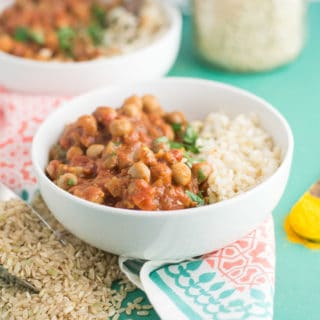 Slow Cooker Chana Masala (Vegan)