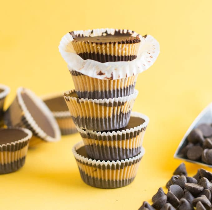 Vegan Peanut Butter Cups {5 Ingredients!}