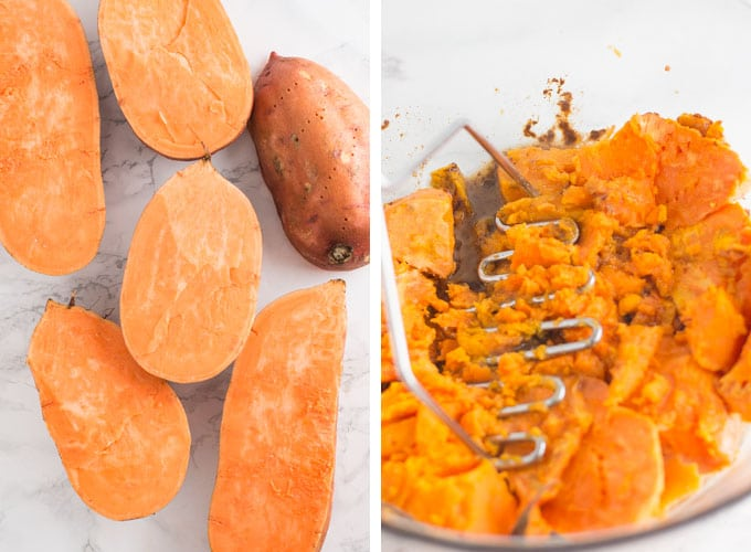 baked sweet potato mash