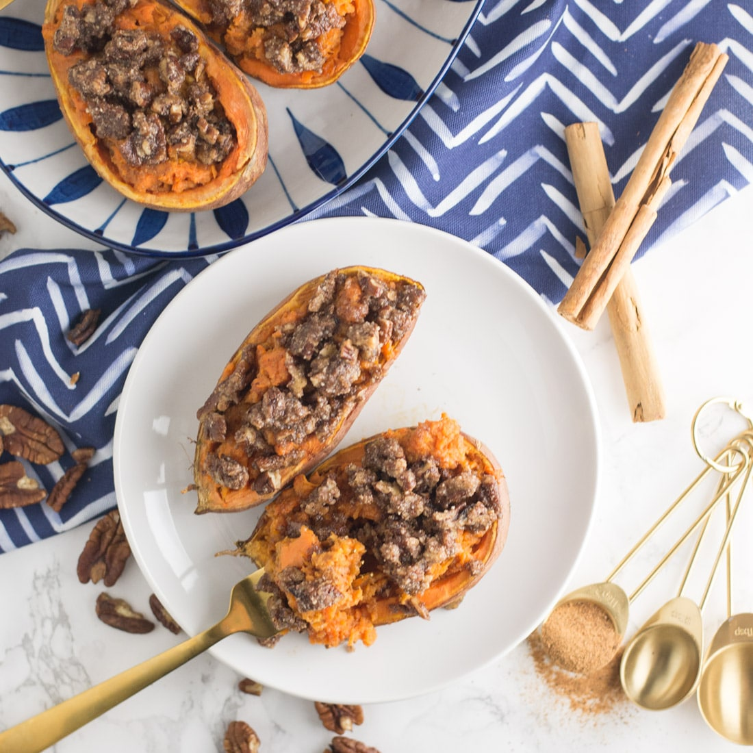 Twice Baked Vegan Sweet Potato Casserole