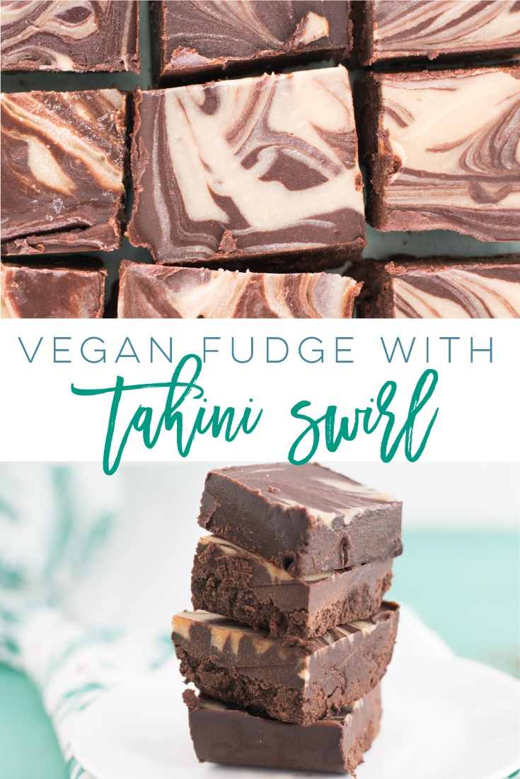 Vegan Fudge (6 Ingredients!) -- This fudge is so rich and decadent sans all the butter, dairy, and refined sugar. Tahini, coconut oil, maple syrup, and chocolate create this vegan fudge masterpiece. #veganfudge #healthyfudge #tahini #healthydessert #easyfudge   Mindful Avocado