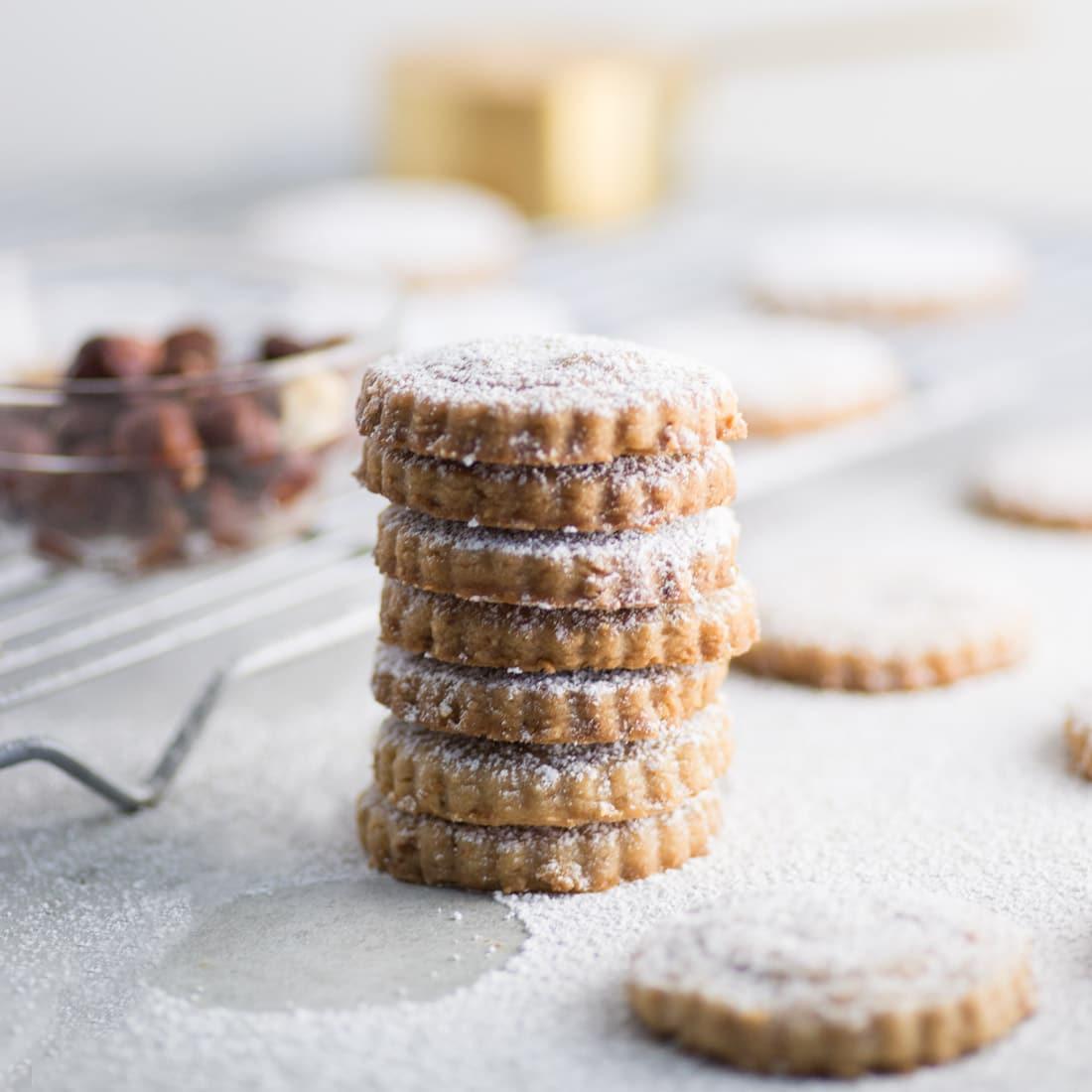 Vegan Hazelnut Shortbread Cookies