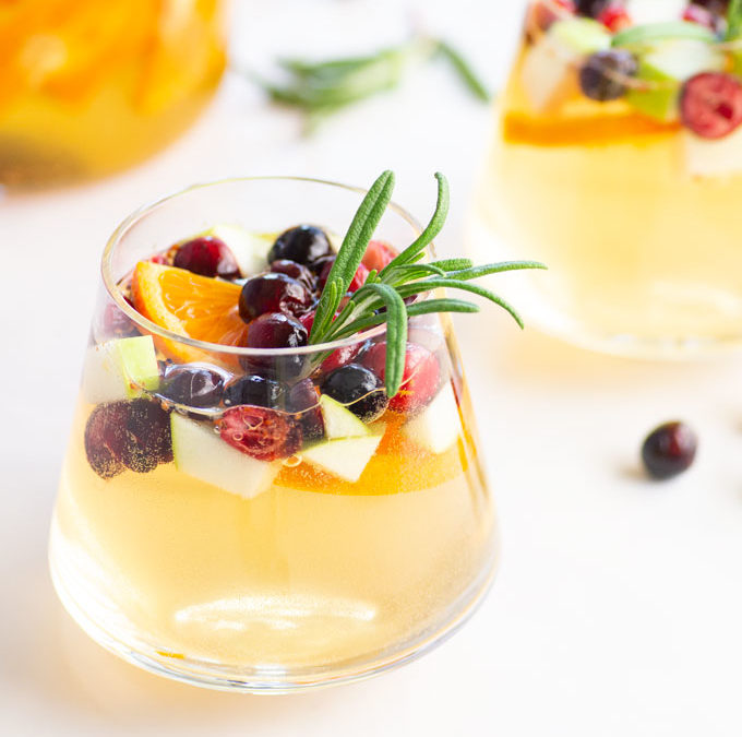 Cranberry White Sangria + VIDEO