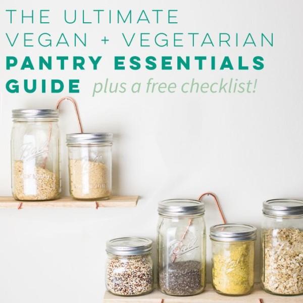 vegan pantry essentials for kitchen staples