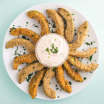 plate of avocado fries on white plate