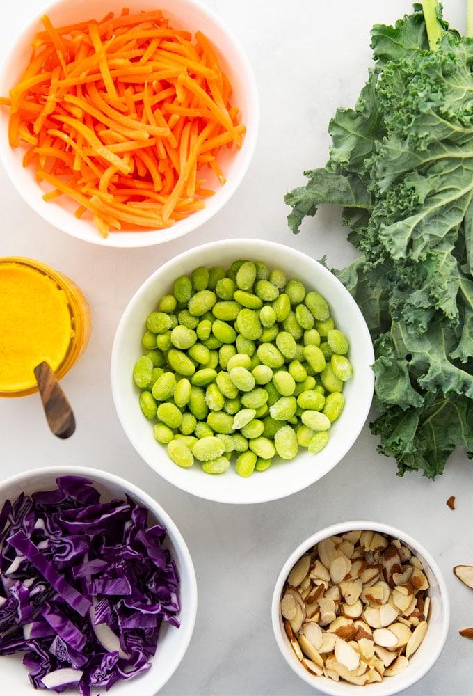 ingredients for asian kale salad