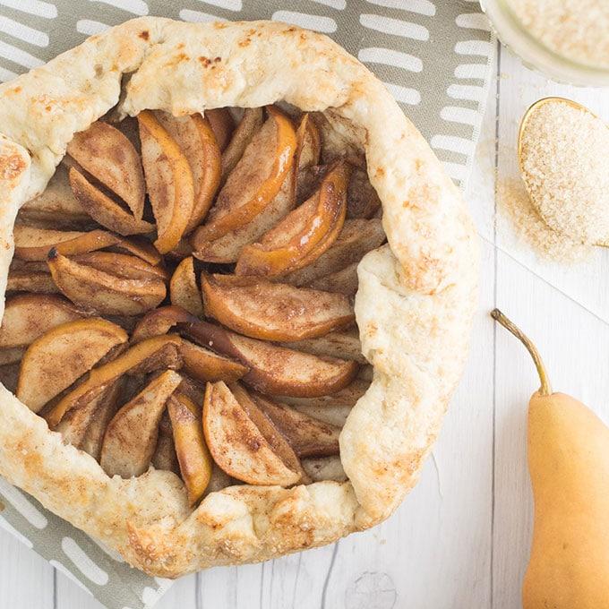 vegan pear galette