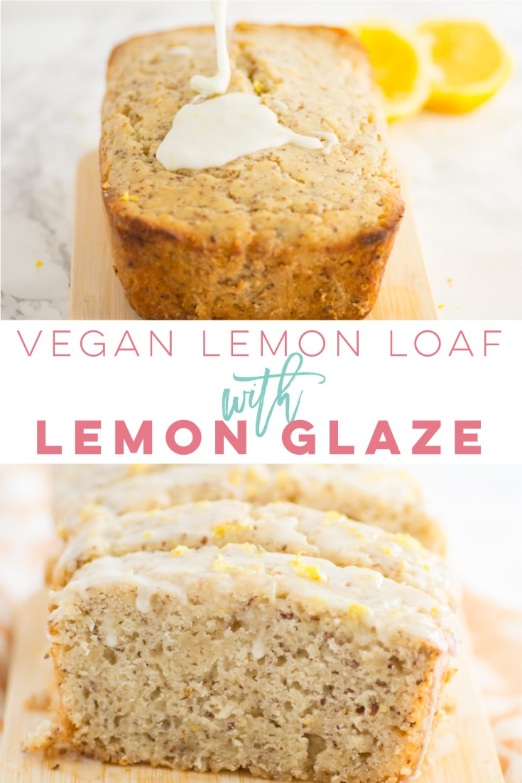 Vegan Lemon Loaf with Lemon Glaze -- Soft and moist lemon loaf topped with a perfectly sweetened lemon glaze, this vegan lemon loaf recipe is a true hit. Made with all natural and simple ingredients, you need to try this delicious plant-based recipe! #vegan #vegetarian #veganbaking #dessert - mindfulavocado