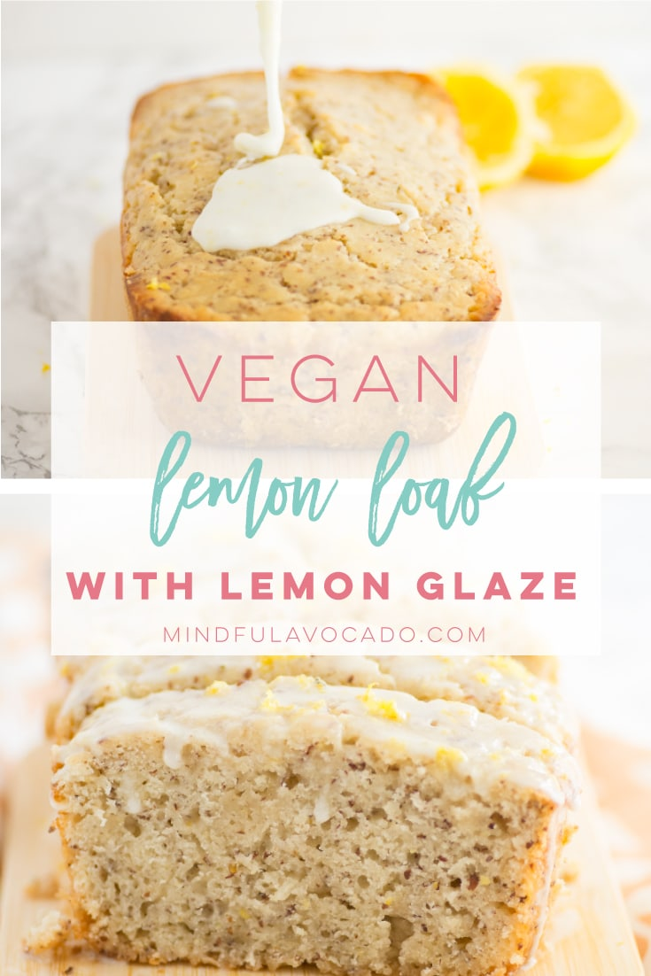 Vegan lemon loaf recipe with lemon glaze is the PERFECT brunch or dessert idea! Perfectly moist and so easy to make. #vegan #vegetarian #veganbaking #dessert - mindfulavocado