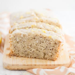 Vegan Lemon Loaf with Lemon Glaze