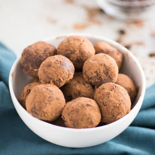 Peanut Butter Mocha Energy Balls (Vegan)