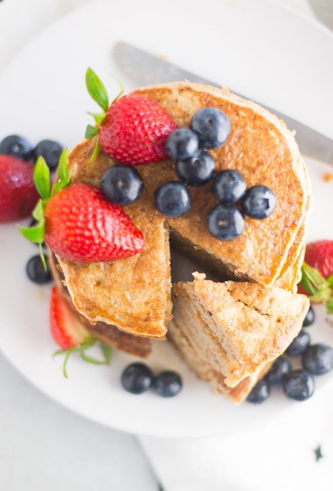 Mindful Avocado 3-Ingredient-Vegan-Banana-Pancakes_011 Vegan Banana Pancakes - 3 Ingredients!