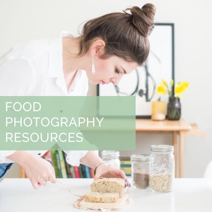 food photography resources. links to tips, styling, lighting, composition, camera equipment, and editing techniques