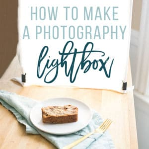 instructions on how to DIY a photography lightbox for food photographers