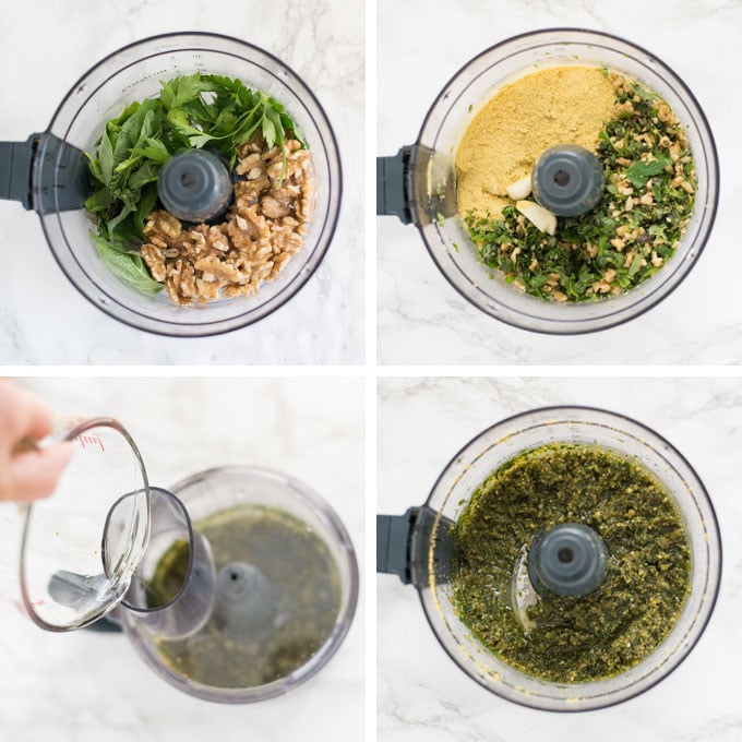 steps on how to make pesto