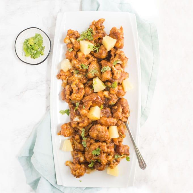 Vegan Huli Huli Cauliflower Bites