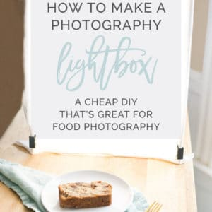 How to Make a Photography Lightbox -- This DIY lightbox is PERFECT for food photography! What's even better is it's a fraction of the cost of a professional photography lightbox #foodphotography #foodphotographytips #photography #photographylighting #diy | mindfulavocado