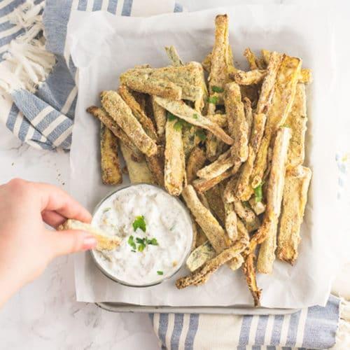 Baked Zucchini Fries (Vegan/GF/Keto)