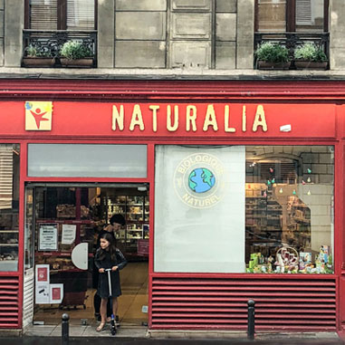 naturlia grocery store in paris, france